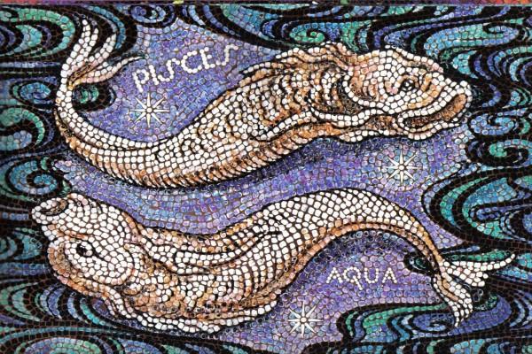 Mosaico de Piscis, elemento Agua