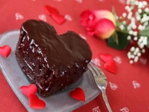 Postal: Un corazón de chocolate para comer el Día de San Valentín