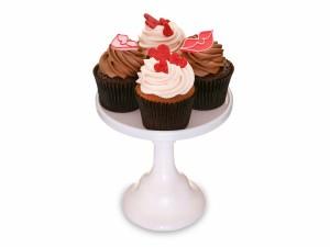 Unos deliciosos cupcakes con besos y corazones