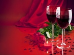 Vela, vino y rosas para festejar el Día de San Valentín
