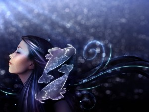 Mujer representando al signo de Piscis