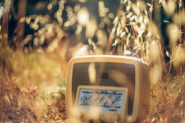 Una radio antigua en el campo