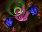 Flores de colores digitales