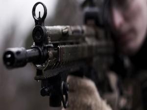 El arma de un soldado