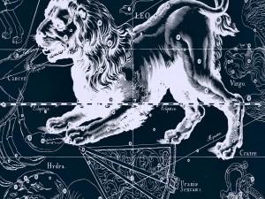 Postal: Constelación de Leo