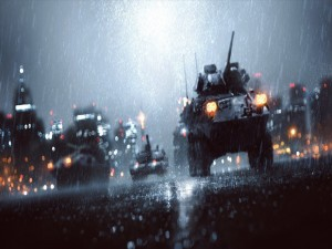 Tanques bajo la lluvia en Battlefield 4
