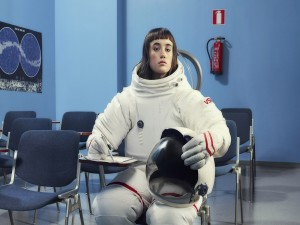 Postal: Mujer astronauta