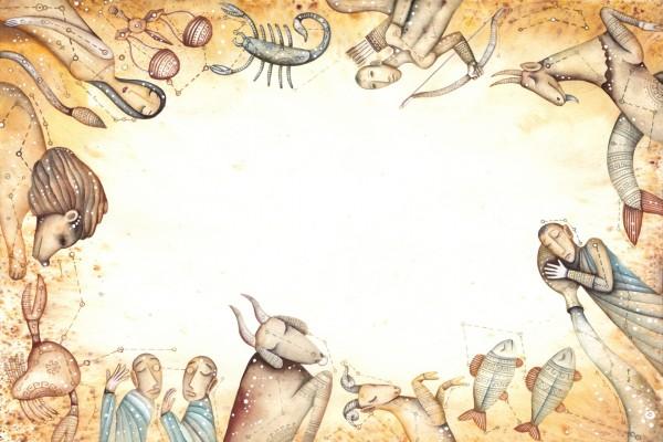 Bonita imagen con los doce horóscopos
