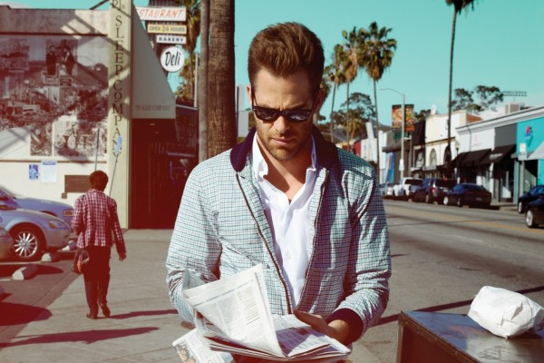 El guapo actor Chris Pine