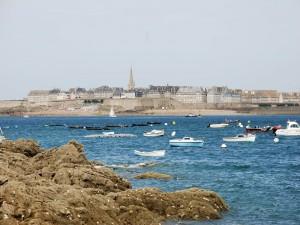 Postal: Vistas de Saint Malo, Francia
