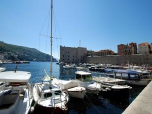 Postal: Viejo puerto de Dubrovnik (Croacia)