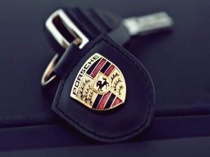 Llavero de un Porsche