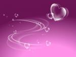 Bellos corazones en un fondo lila