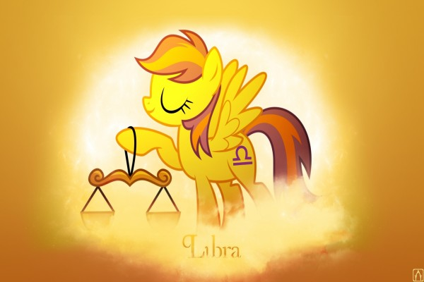 Poni representando al horóscopo de Libra