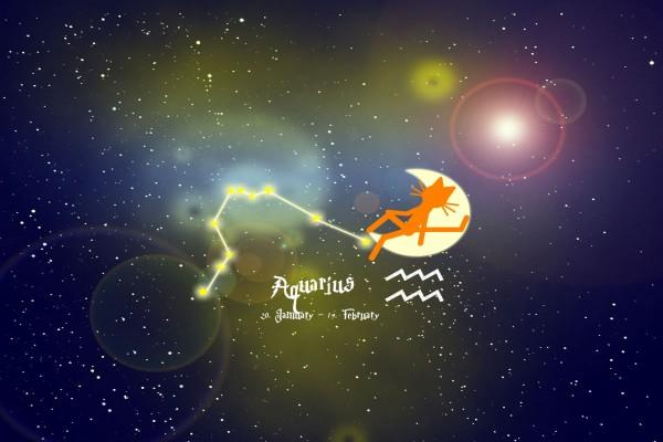 Gato en el horóscopo de Acuario
