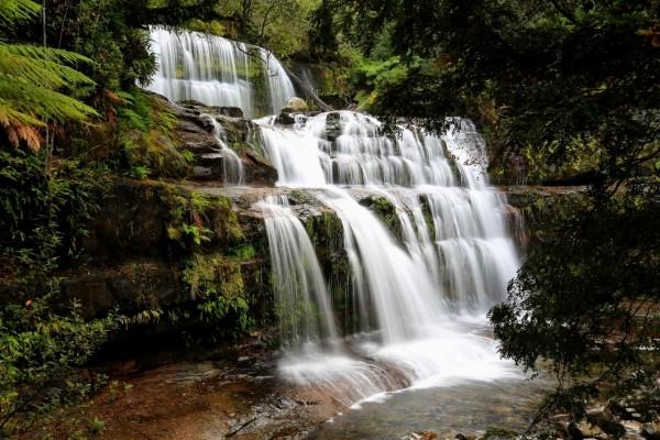 Magnífica cascada en Tasmania (Australia)