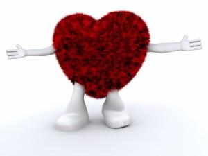 Corazón pidiendo un abrazo