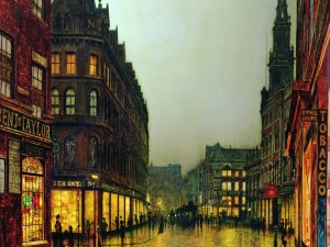 Paisaje urbano de John Atkinson Grimshaw