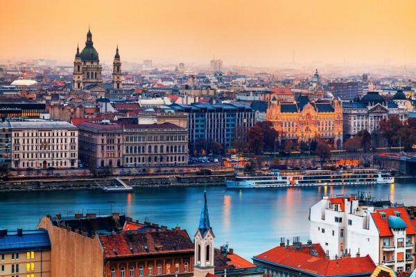 Hermosa vista de Budapest