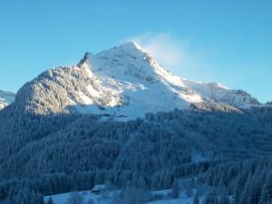 Postal: Viento en la cima de la montaña