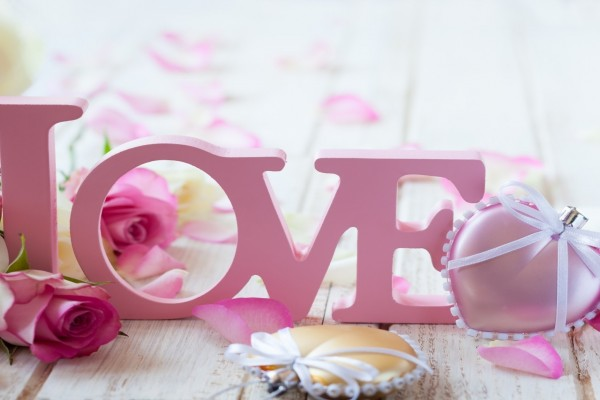 Elementos decorativos para el Día de San Valentín