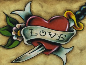 Postal: Pintura de amor