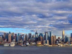 Cielo de otoño sobre Nueva York