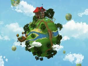 Casa en un planeta