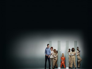 "Algunos personajes de la serie ""Orange is the new Black"""
