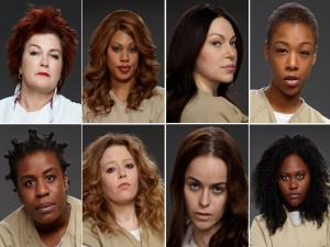 Ocho mujeres de la series: Orange is the new Black