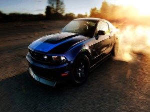 Ford Mustang en movimiento