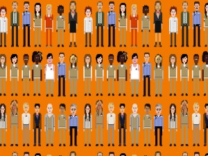 Personajes pixelados de Orange is the new Black