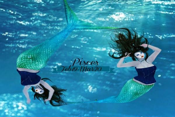 Sirenas representando al signo Piscis
