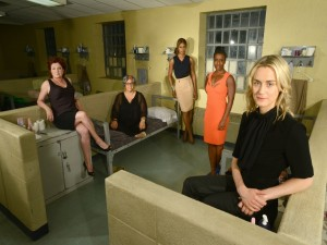 Jenji Kohan, Taylor Schilling, Kate Mulgrew, Laverne Cox y Uzo Aduba (Orange is the new Black)