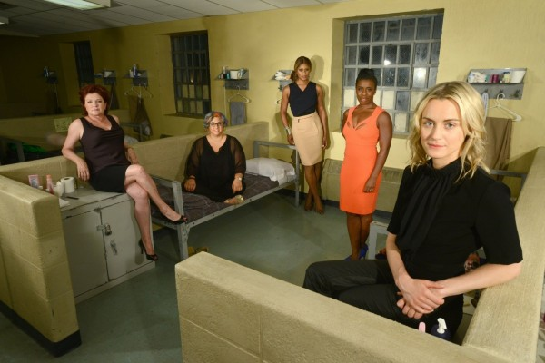 Jenji Kohan, Taylor Schilling, Kate Mulgrew, Laverne Cox y Uzo Aduba (Orange is the new Black)