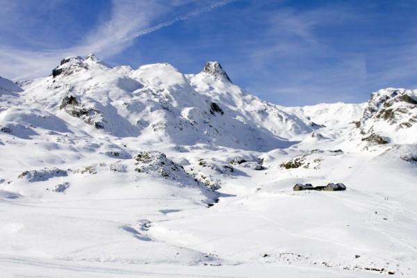 Refugio en las montañas blancas