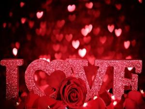 Postal: Amor y rosas