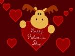Un reno te desea Feliz Día de San Valentín