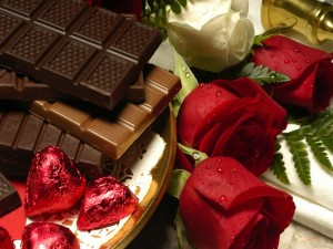 Chocolates, bombones y rosas para San Valentín