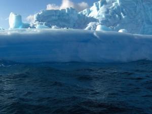 Pingüinos en el glaciar