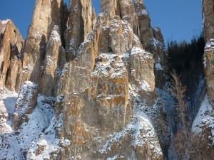 Maravillosa visa de los Pilares del Lena (Rusia)