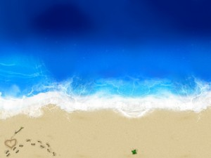 Postal: Amor en una playa