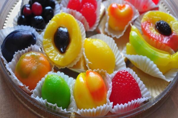 Caramelos caseros de frutas