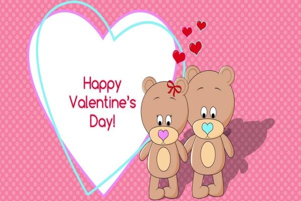 Pareja de osos y ¡Feliz Día de San Valentín!