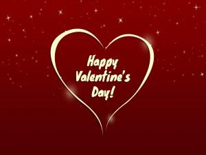 ¡Feliz Día de San Valentín! dentro de un corazón