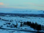 Valle cubierto de nieve