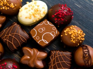 Postal: Excelentes bombones de chocolate