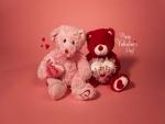 Pareja de osos de peluche para regalar el Día de San Valentín