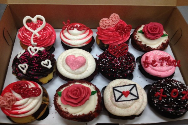 Cupcakes para regalar el Día de San Valentín