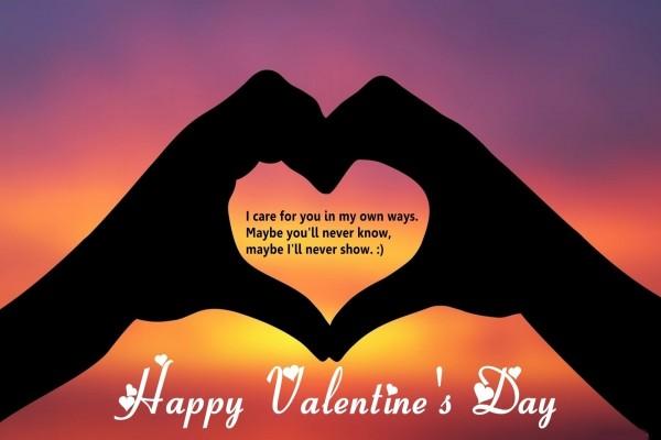 Feliz Día de San Valentín y una bonita frase de amor